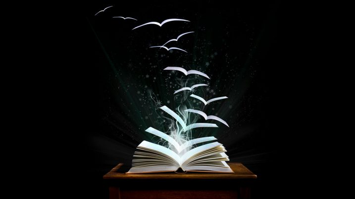 pages in a book taking flight