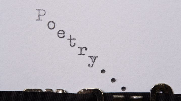 Poetry typed on a typewriter